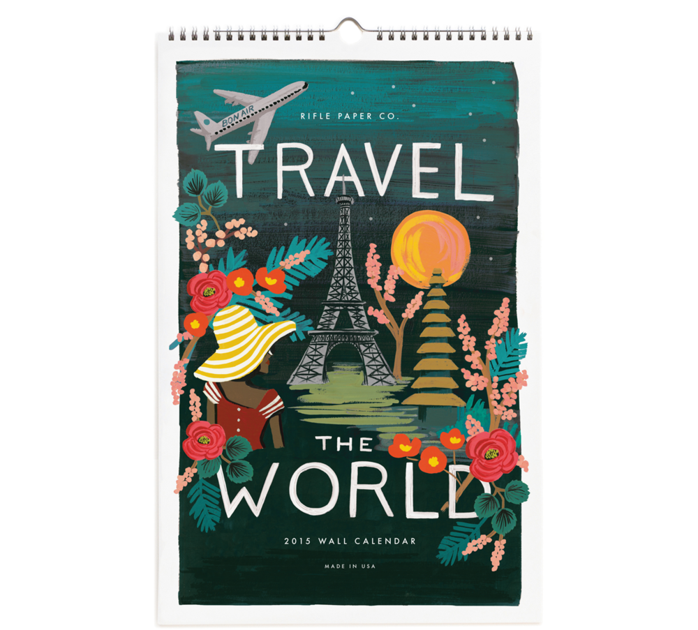2015 Travel the World Wall Calendar, $26