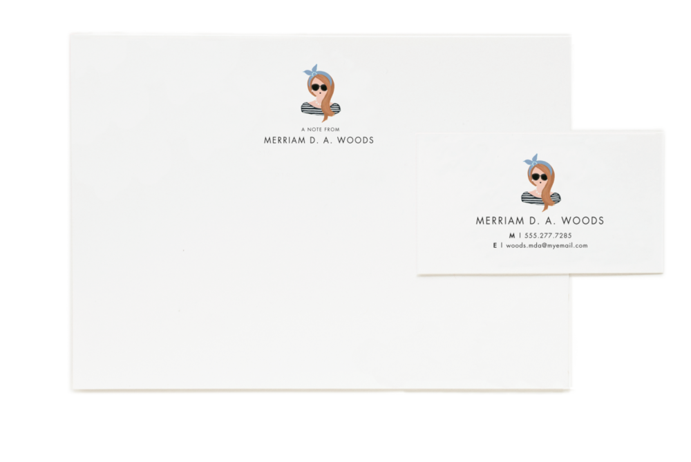 Portrait Personalized Stationary , $85 for 50 flat notes (Perfect for thank you notes!)