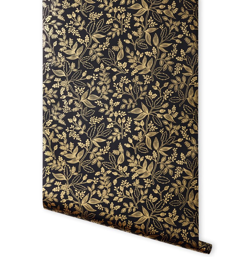 Queen Anne (Ebony) wallpaper, $135 for 30 ft. roll