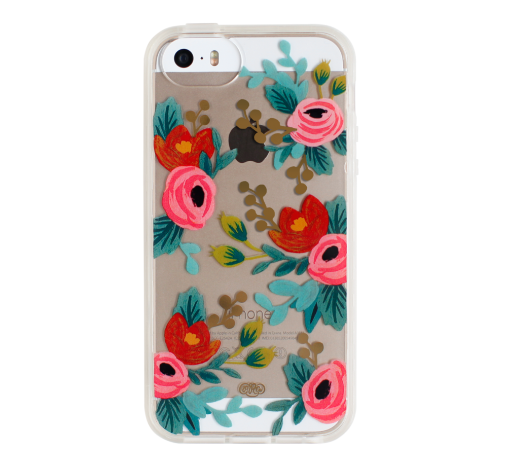 Clear Rosa phone case, $36 (Great stocking stuffer)
