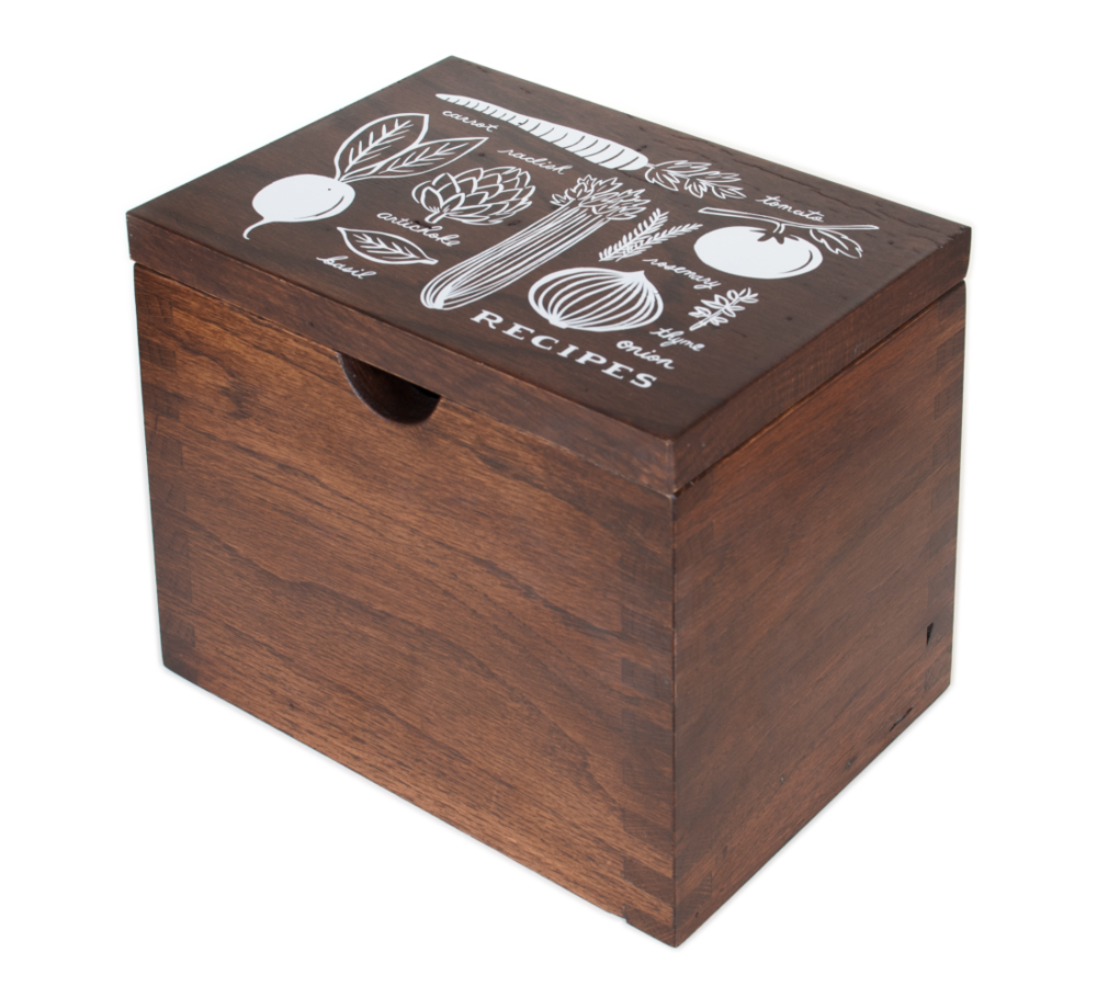 Kitchen Hardwood Recipe Box, $145 (Perfect way to keep all of your Thanksgiving recipes organized)