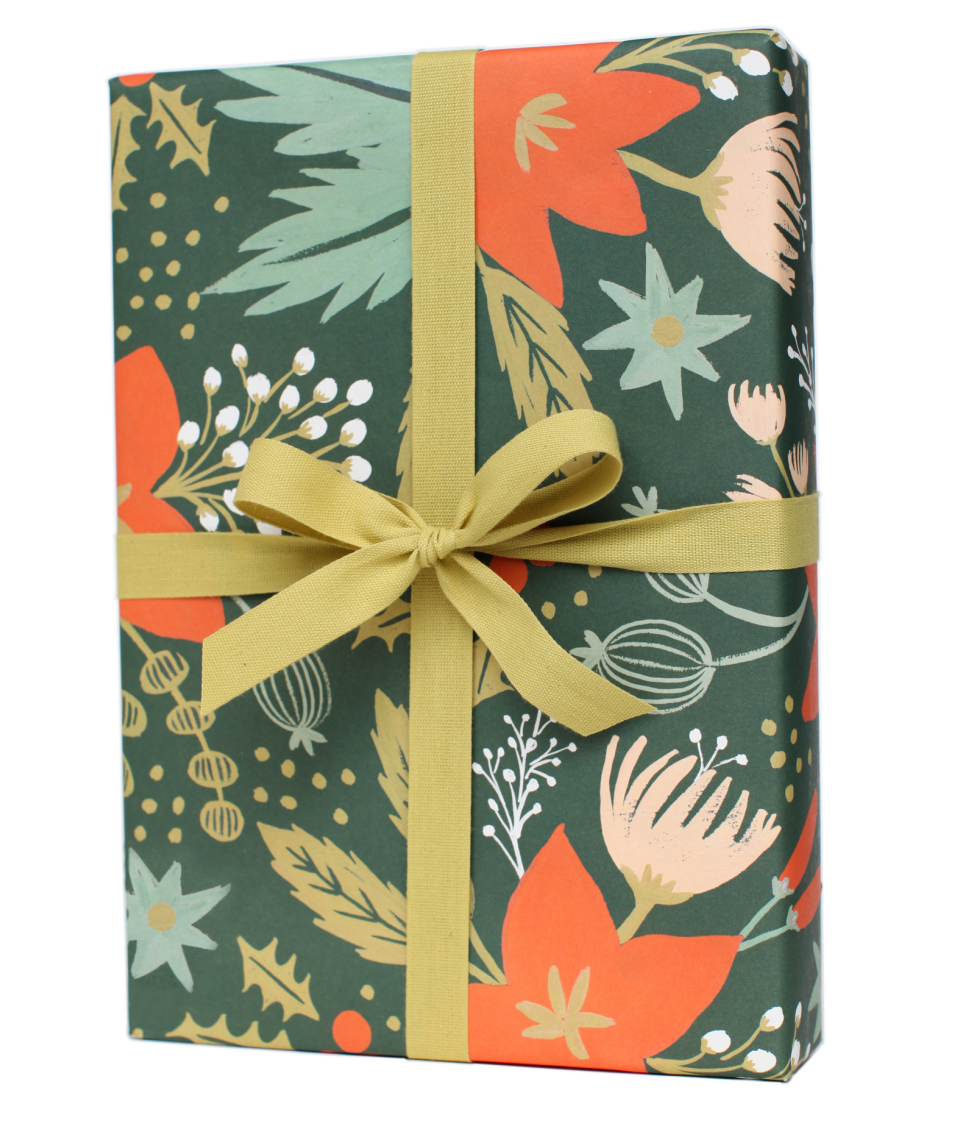 Holiday Greens Wrapping Sheets, $8.50 for 3 sheets