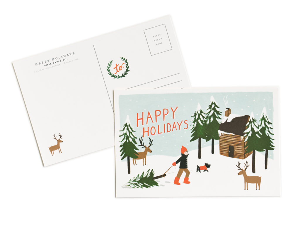 Happy Holidays Postcard, $10 for 10