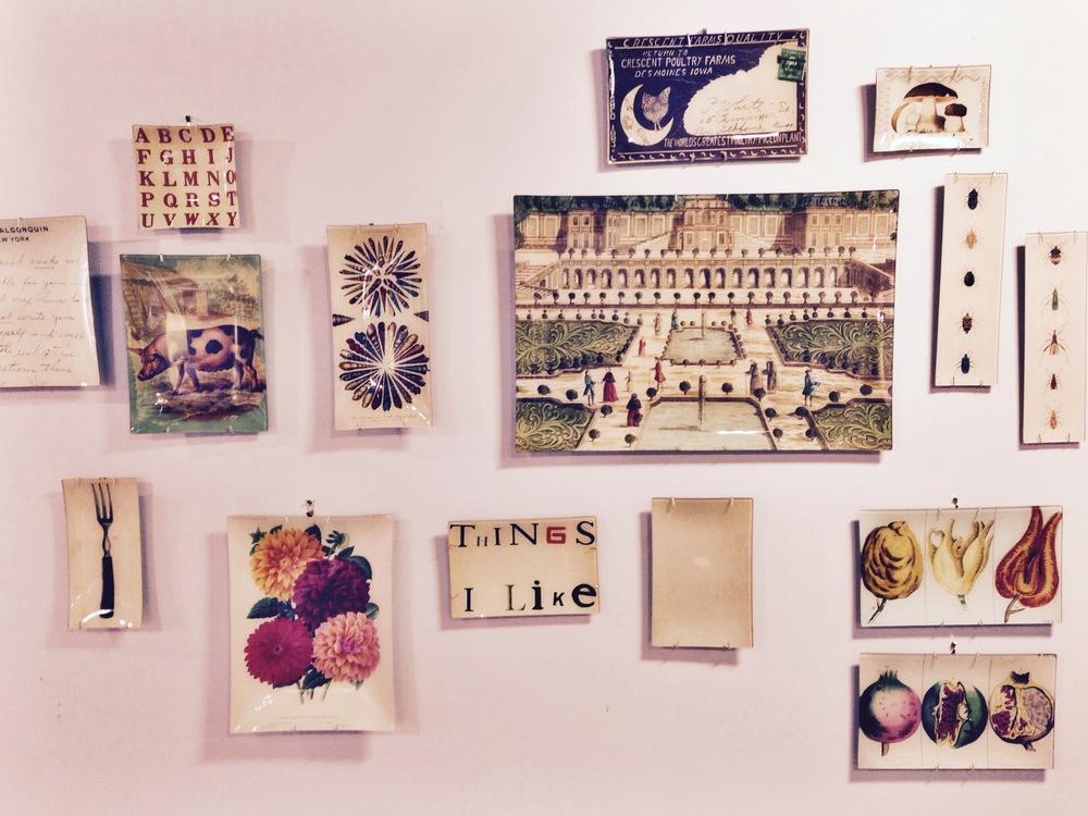 {Beautiful plates as wall art}