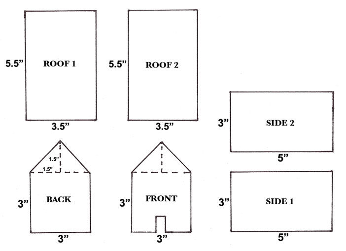Gingerbread houses stixandstonez for What size paper are blueprints printed on