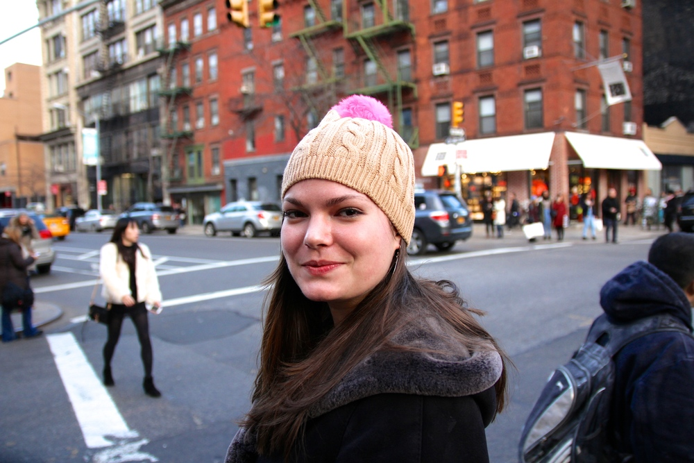 {Kate won this  hat  from Old Navy-- super cute!}