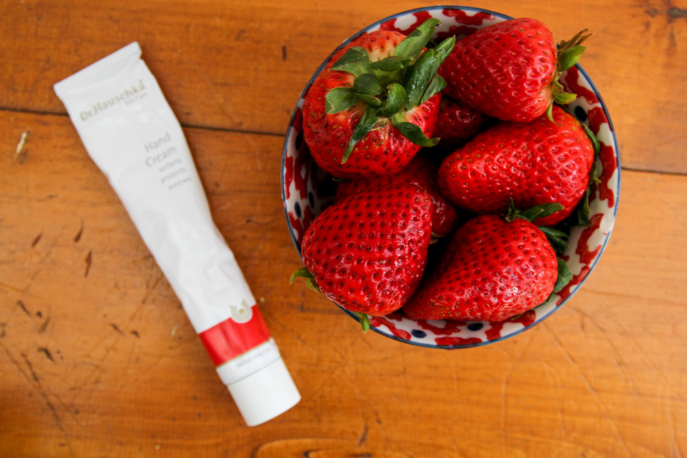 {Keeping that skin healthy with fruit and Dr. Hauschka}