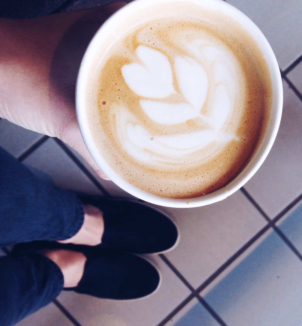 {Mid afternoon pick me up: cappuccino from  Toscanini's }