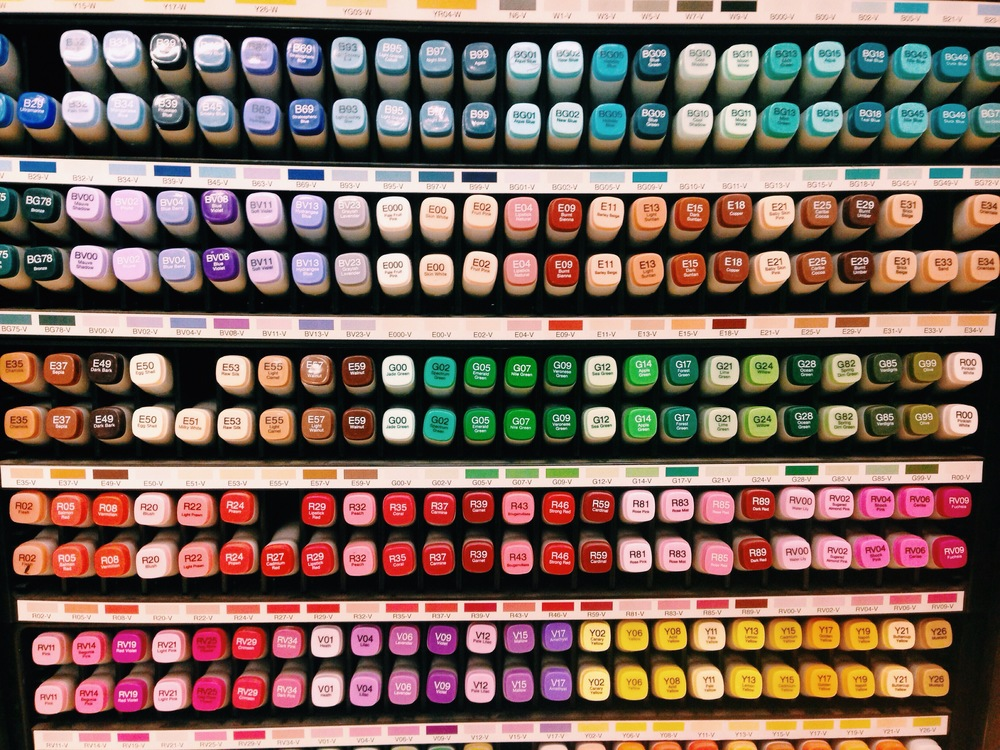 {In color heaven at Blick while art supply shopping}