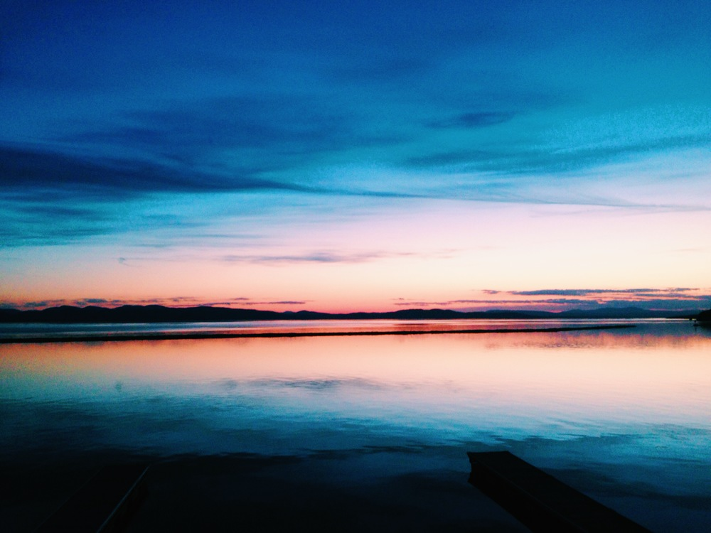 {Breathtaking sunset on Lake Champlain last weekend}