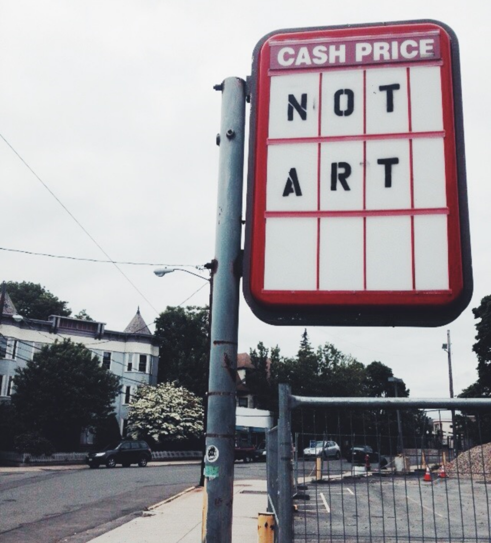 {Funny sign in Somerville}