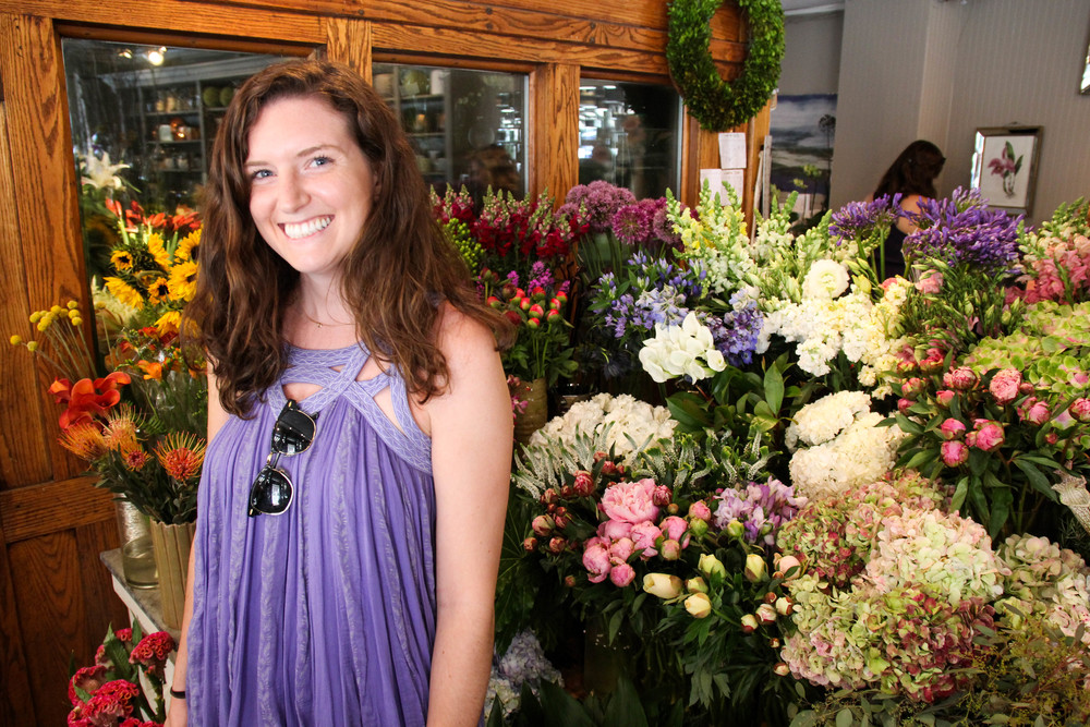 {Mary and I made a quick stop at  Rouvalis Flowers }