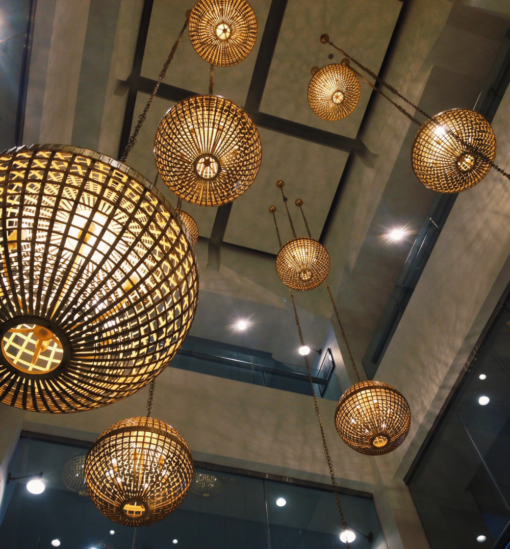 {Some awesome light fixtures from a quick stop at the Boston Design Center}