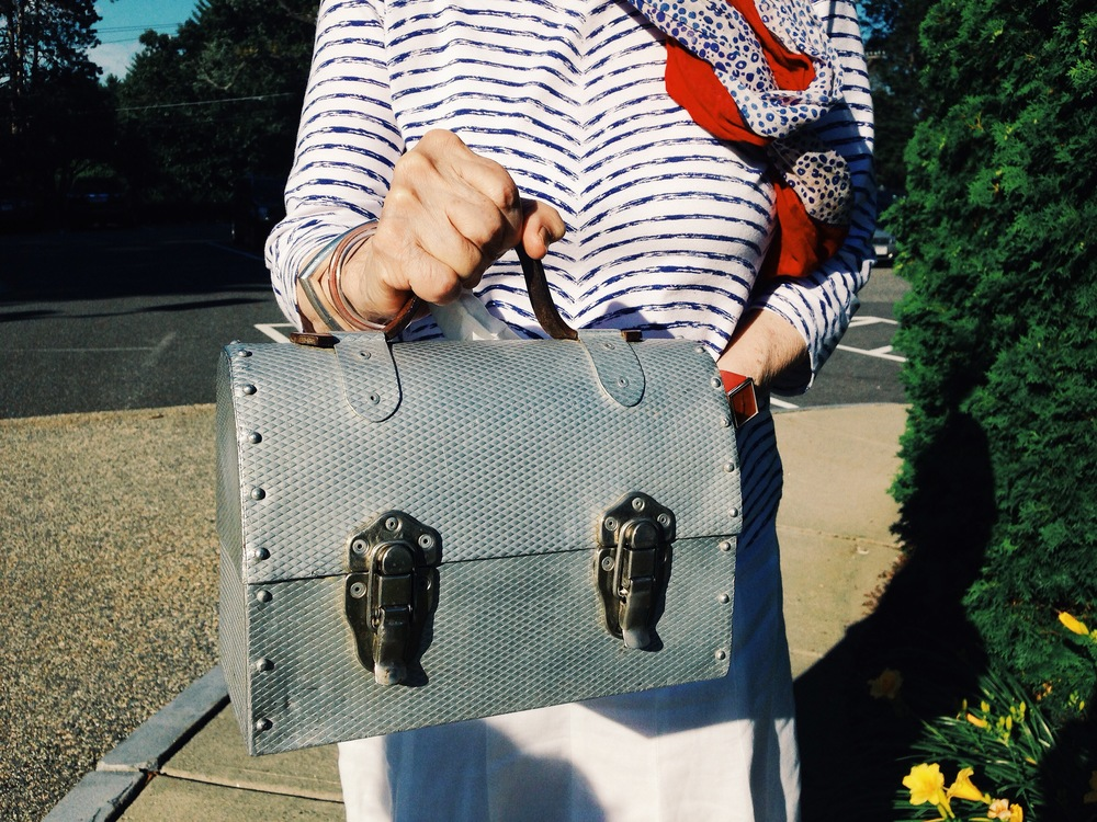 {Not everyone has the coolest gram ever who sports an old lunch pail as a killer purse...}