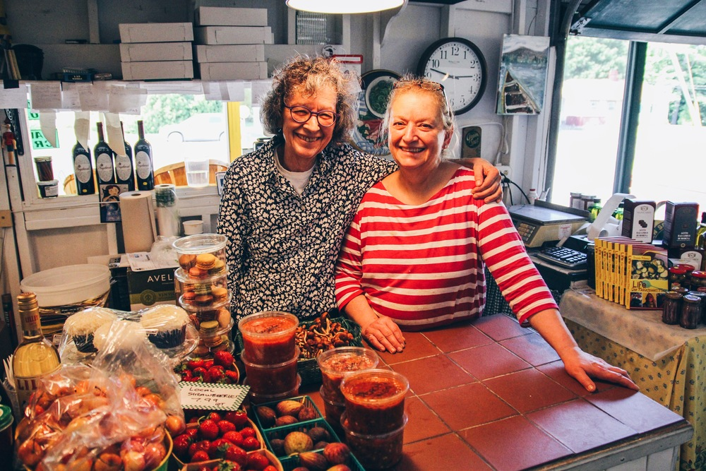 {Tanya and Brenda, the shop owners}