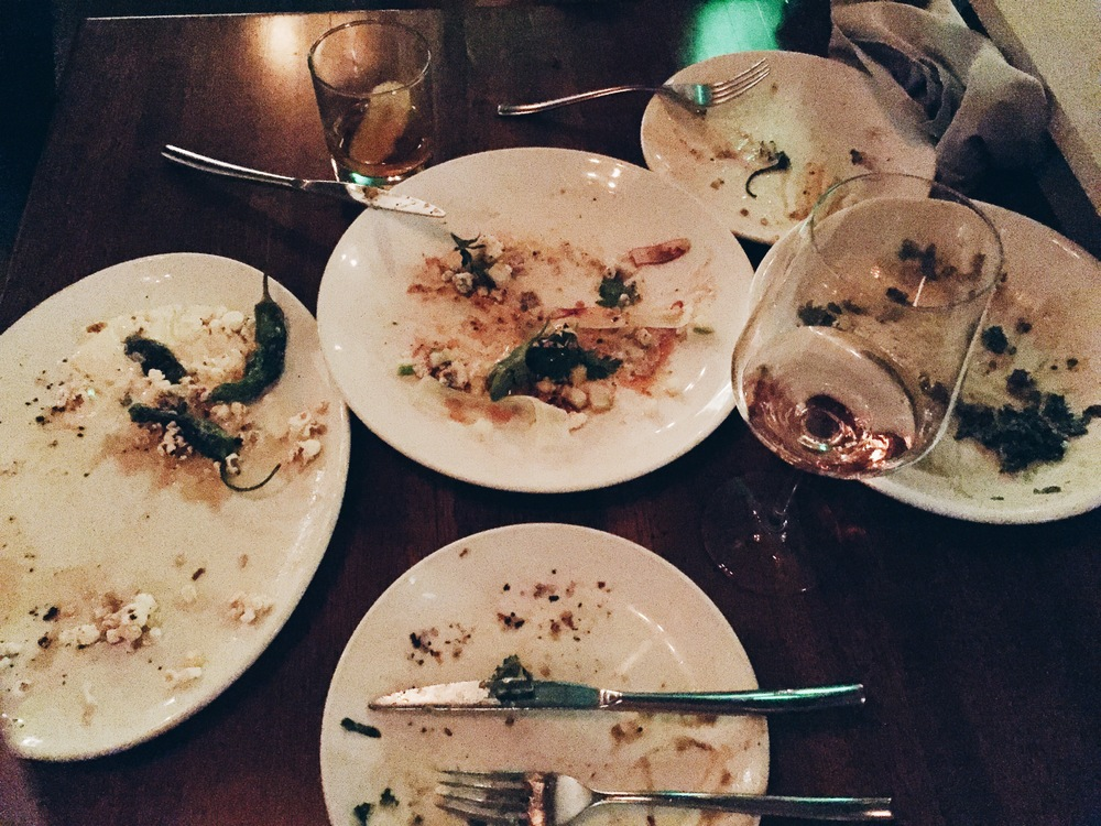 {Polished off a delicious meal at  Alden & Harlow  for a birthday celebration Friday}