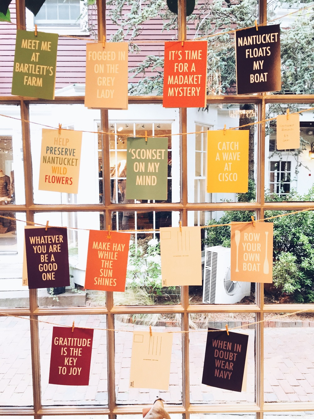 {Cute way to display colorful post cards}