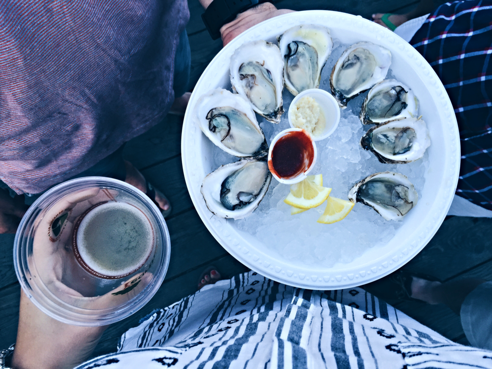 {Beer and oysters at Cisco Brewers}
