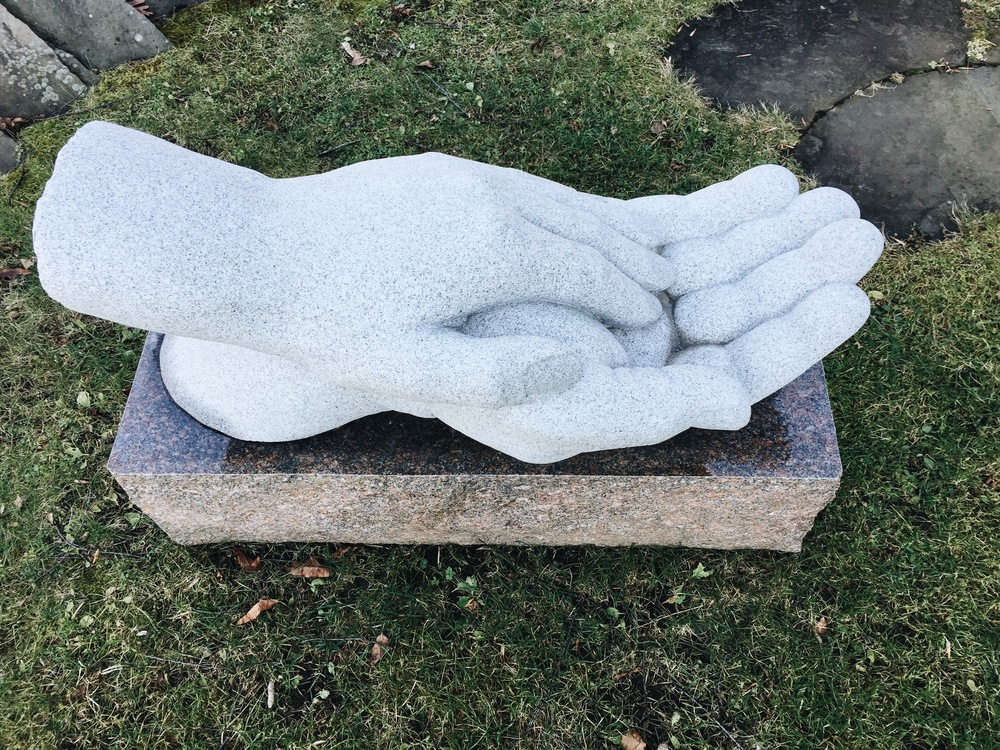 {I love this new hand sculpture we spotted at  West Branch Gallery }