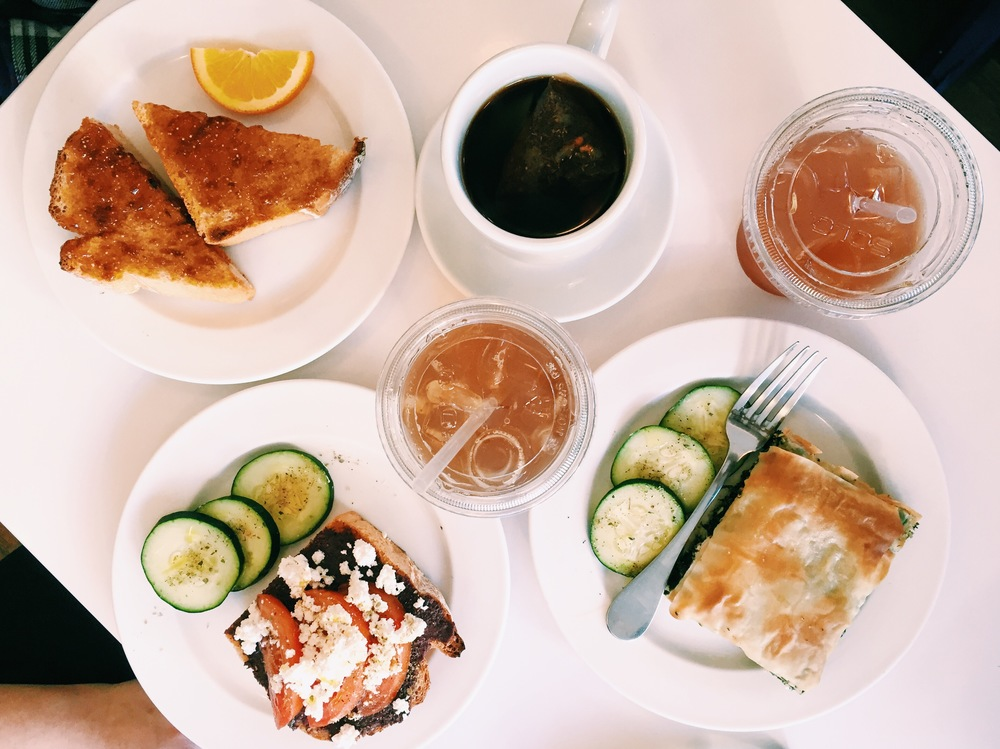 {This team lunch of tea and toast at  Three Little Figs  may have to become a new office tradition...}