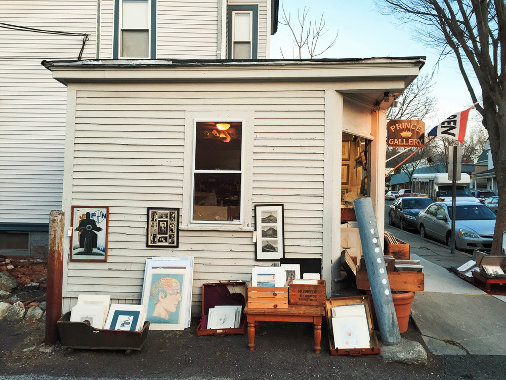 {A cute print shop I pass on my daily walk down Highland Avenue}