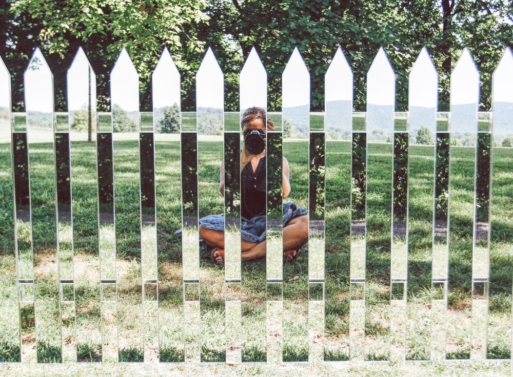 Mirror Fence  by Alyson Shotz