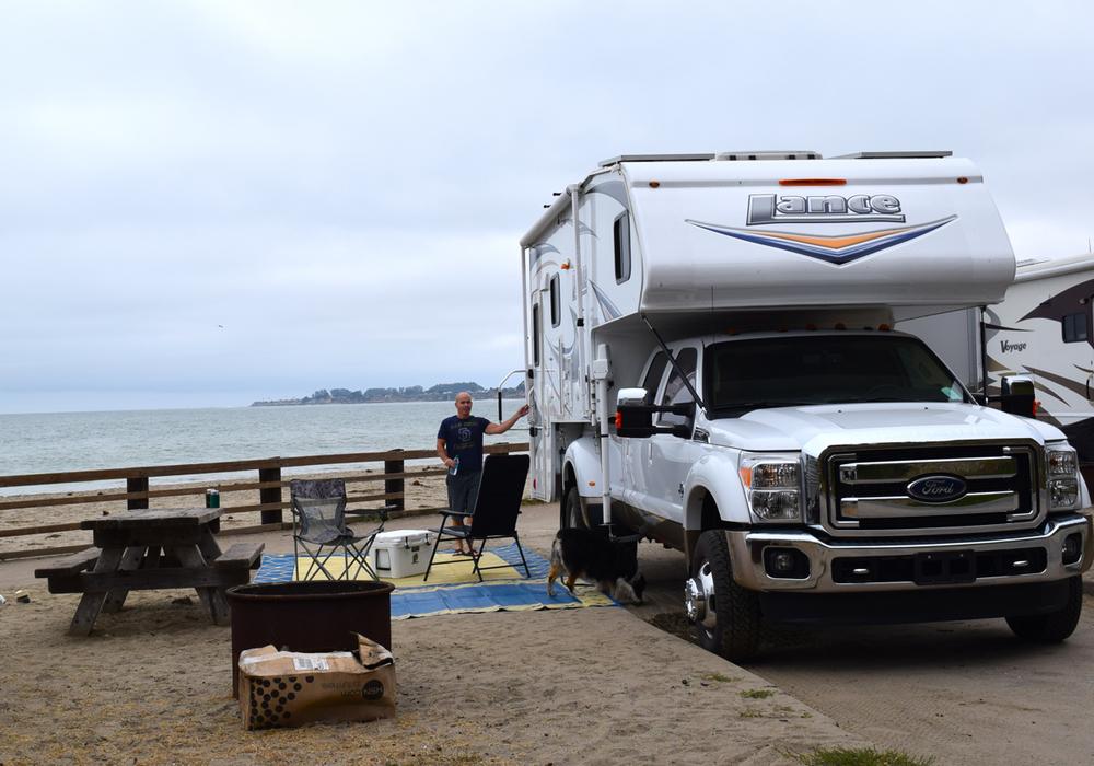 Nice camping spot in Santa Cruz.