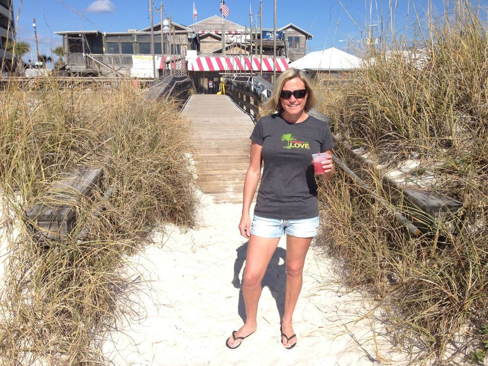 Spreading the Love with some Blue Chair Bay Rum at the Flora Bama!