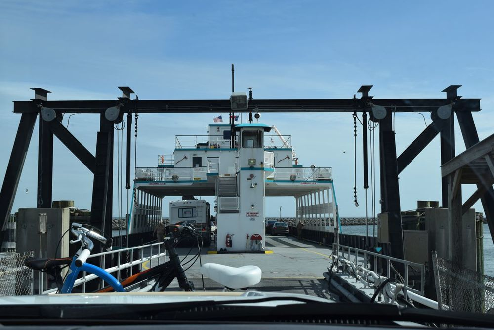 Boarding the ferry.