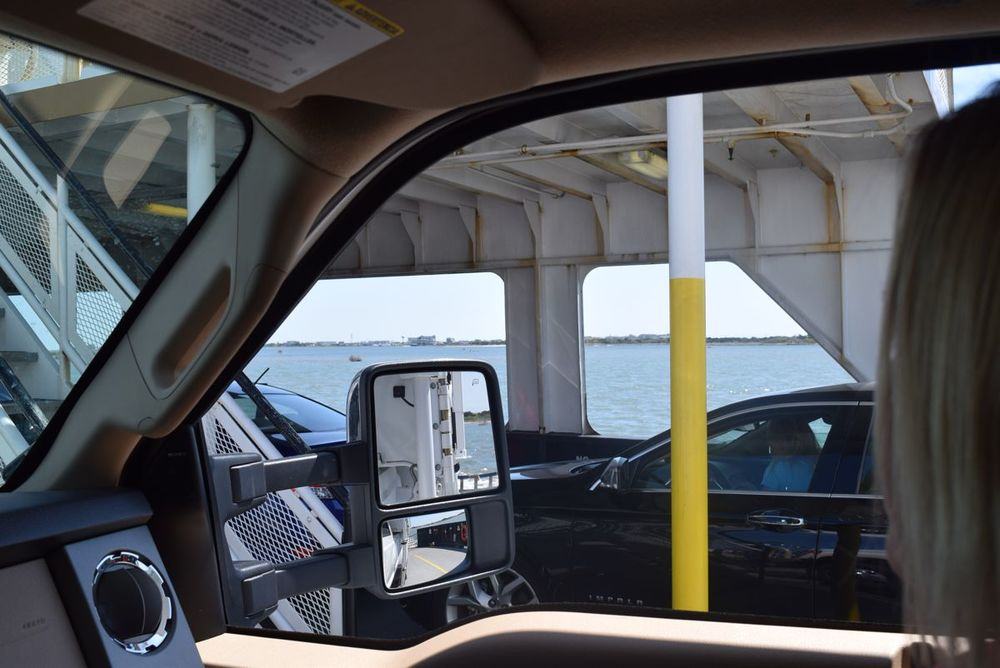 Aboard the Hatteras ferry.