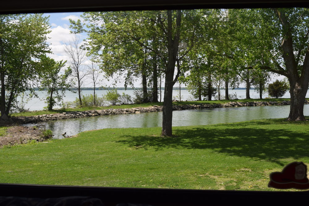 Grand Lake St. Mary's State Park, and the lagoon, right outside our back window.