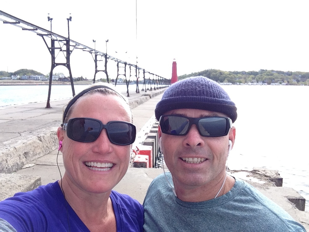 Run selfie, from the end of the pier,