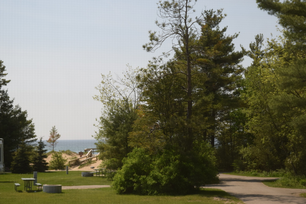 The state campground in Brimley, MI, on Lake Superior.