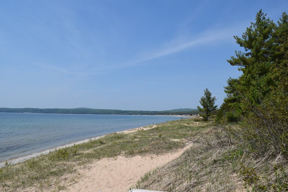 The beach on Lake Superior, with Canada across the water.