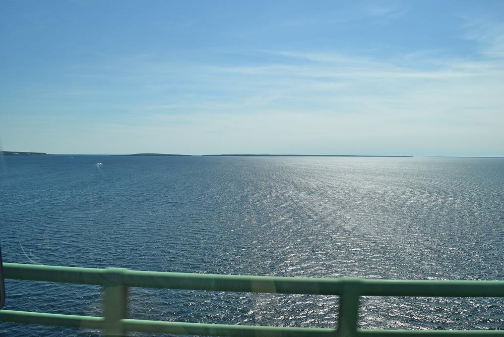Another shot of Lakes Huron and Michigan.
