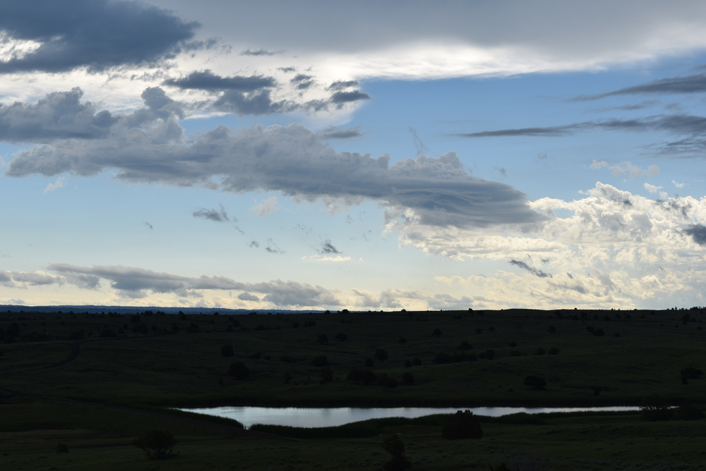 A storm brewing over Gillette, WY.