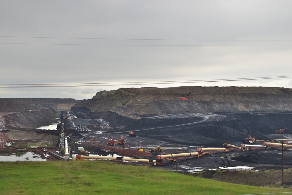 Coal mine in Gillette, WY. It was so gloomy, I had to lighten the photo.
