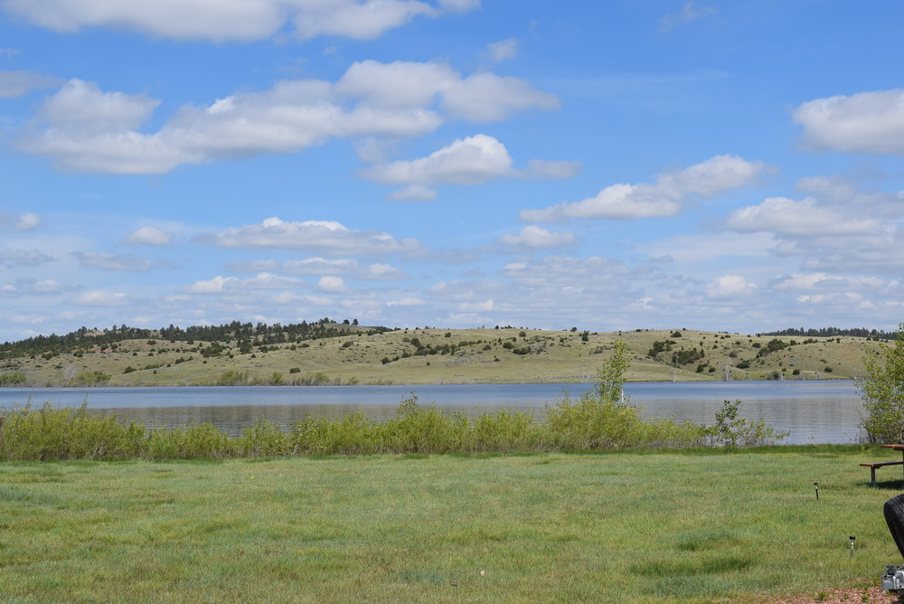 No touchups on this photo either! True blue sky! Tongue River Reservoir, MT. Just north of Sheridan, WY.