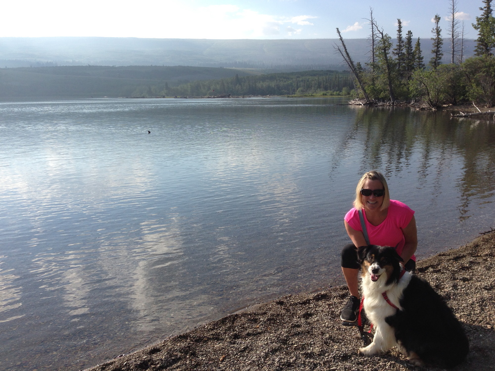 Fi and me by St. Mary's Lake.