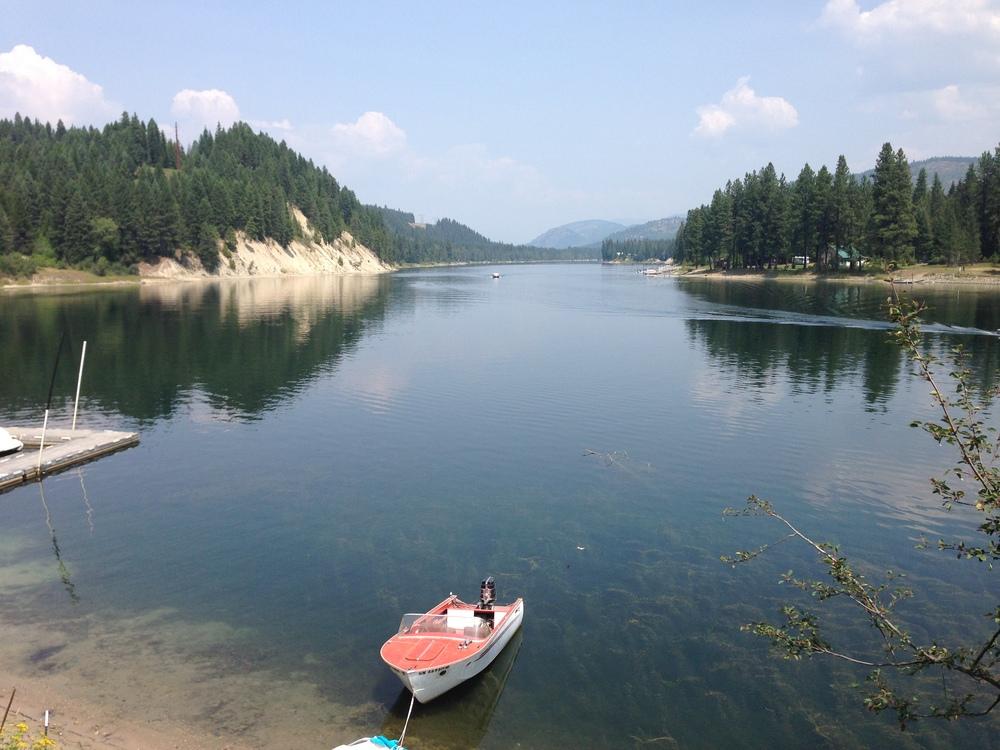Pend Oreille River, from Blueslide Resort, Cusick. WA