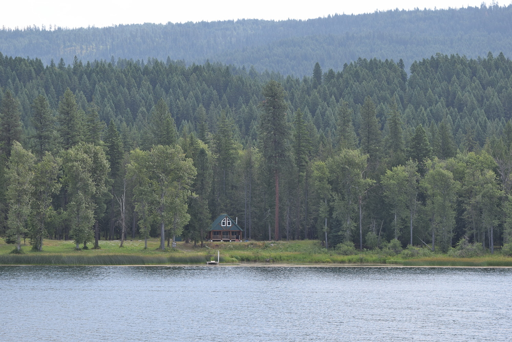 The house and property from across the river.