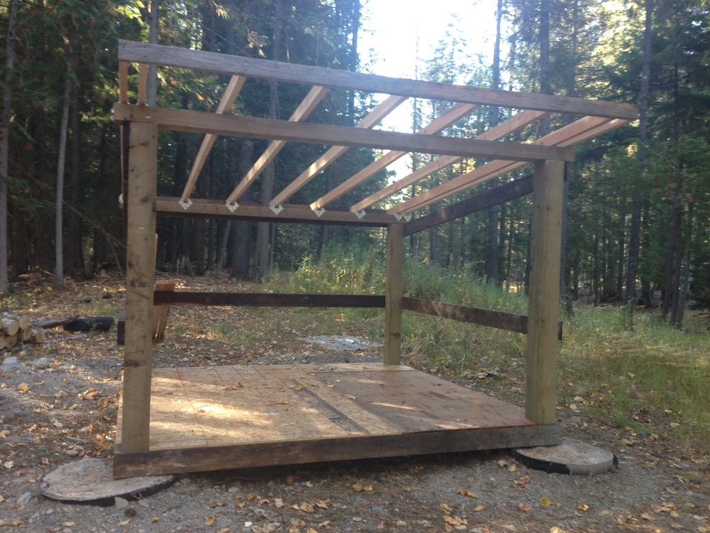 Making progress on the woodshed. 90% of the materials were salvaged from the property.