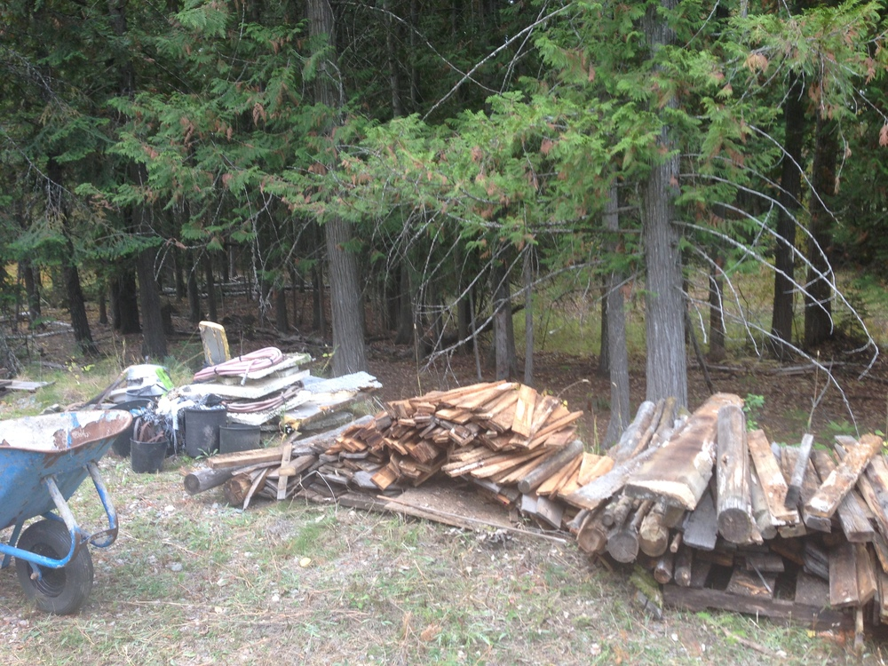 Just a fraction of the crap we've picked up on the property. There's still more to be picked up.