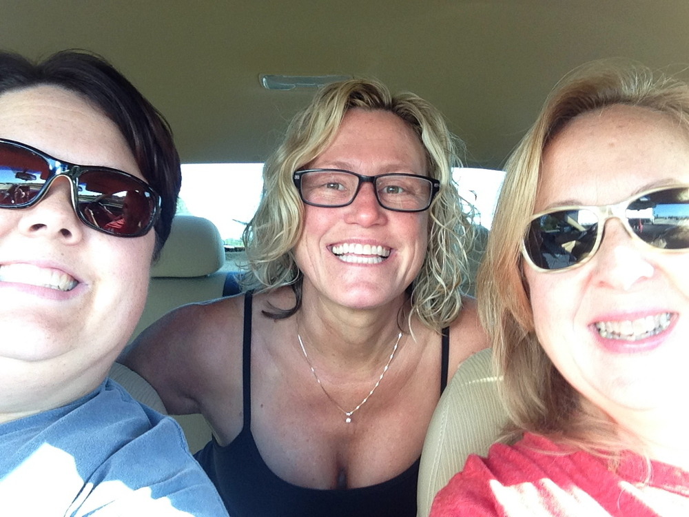 Driving from Tampa to Miami with Noelle and Shari.