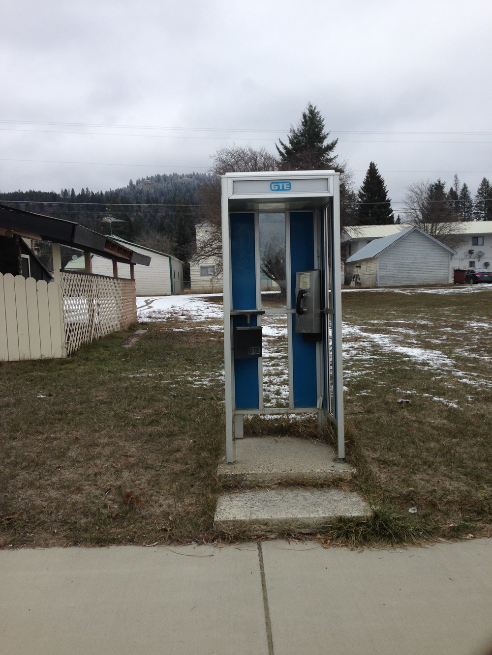 What the?! Our town actually has a phone booth!