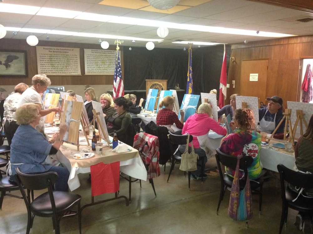 Some of my friends at painting class. Sharon, Connie, Alexa, Michelle, and Stacey. I even met another crazy Kenny fan, Sally!
