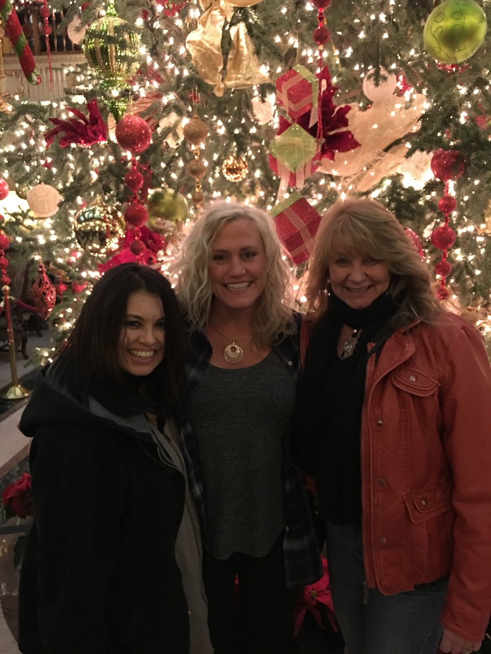 My friends Patrizia and Rhonda and me, in Spokane for a concert.