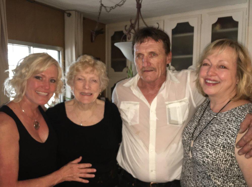 My mama, brother Doug, sister Penny, and me.
