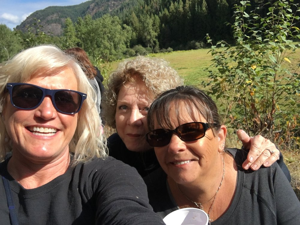 Some dirty divas, Kathy, Sharron , and me.
