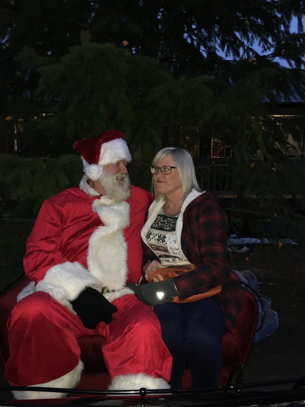 """At """"A Small Town Christmas"""" event in Ione. You're not the real Santa! You smell like beef and cheese!"""